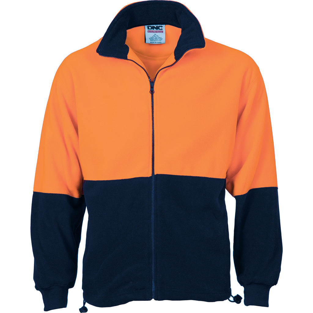 3827 - Hi Vis Two Tone Full Zip Polar Fleece