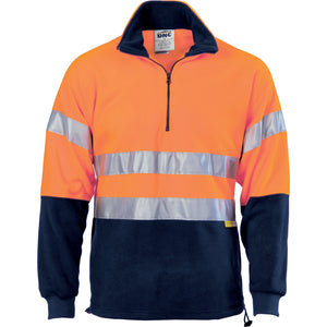 HiVis Two Tone 1/2 Zip Polar Fleece with 3M R/Tape