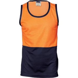 3841 - Cotton Back Two Tone Singlet