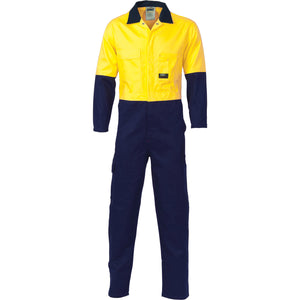 3851 - Hi Vis Two Tone Cotton Coverall
