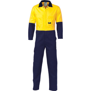 3852 - Hi Vis Cool-Breeze 2-Tone LightWeight Cotton Coverall