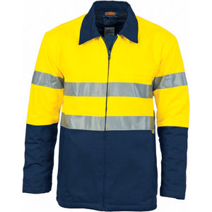 3858 - Hi Vis Two Tone Protect or Drill Jacket with 3M R/ Tape