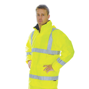 3871 - Hi Vis D/N Breathable Rain Jacket with 3M R/Tape