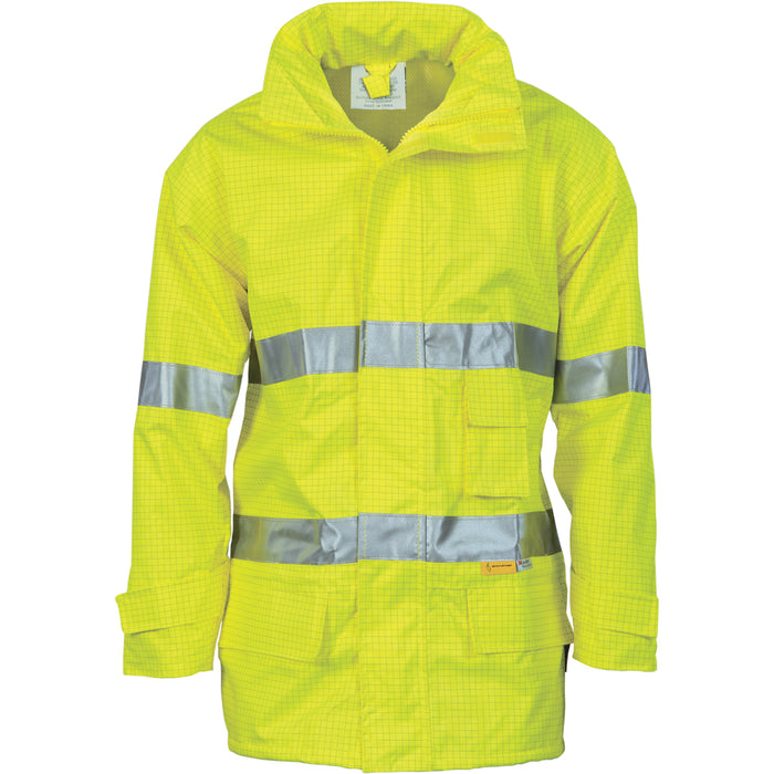 3875 - Hi Vis Breathable Anti-Static Jacket with 3M R/Tape