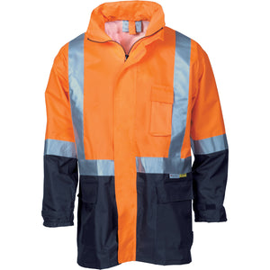 3879 - Hi Vis Two Tone Light weight Rain Jacket with 3M R/Tape