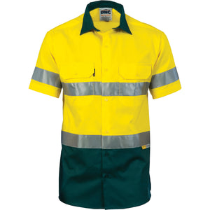 3887 - Hi Vis Cool-Breeze Cotton Shirt with 3M 8906 R/Tape - Short sleeve