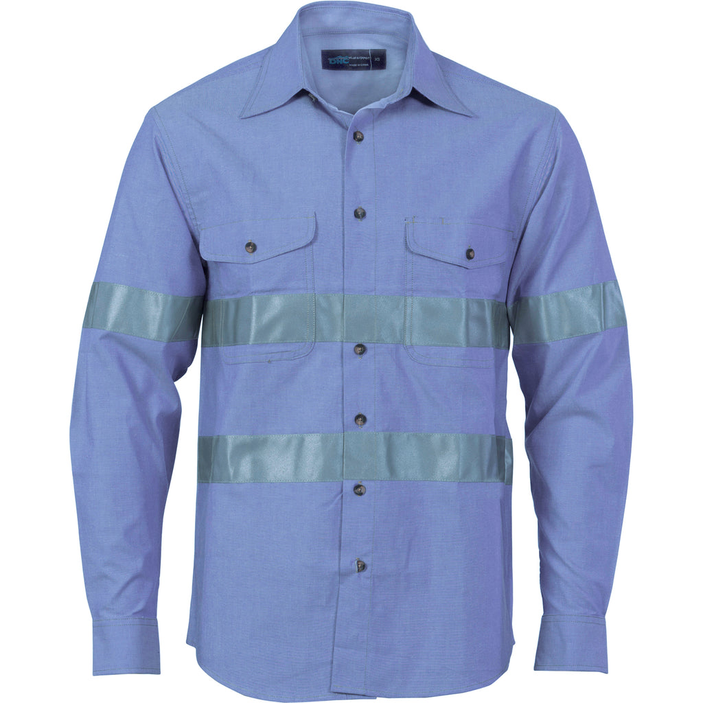 3889 - Cotton Chambray Shirt with Generic R/Tape - Long sleeve