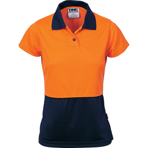 Ladies HiVis Two Tone Polo - Short Sleeve