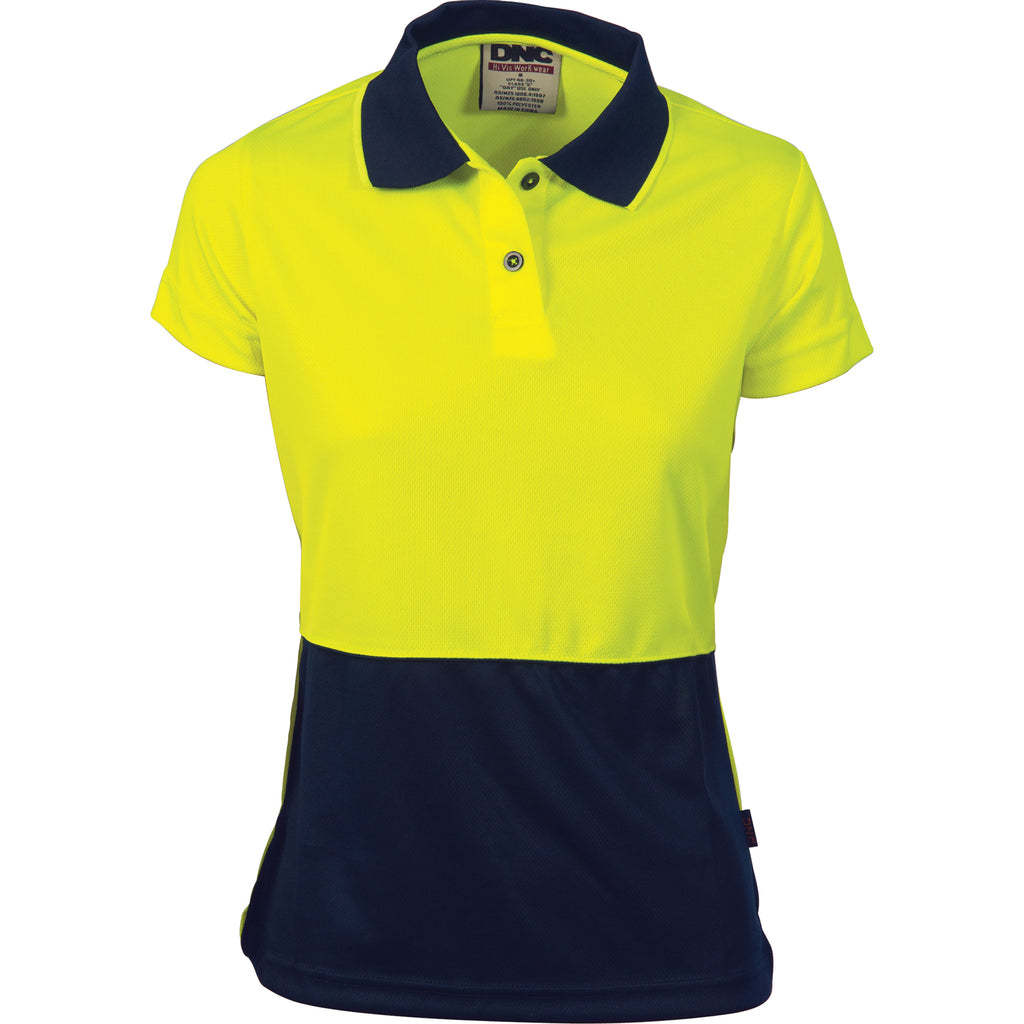 3897 - Ladies Hi Vis Two Tone Polo - Short Sleeve