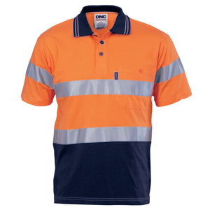 3915 - Hi Vis Cool-Breeze Cotton Jersey Polo With CSR R/Tape - S/S