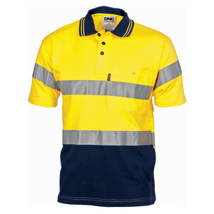 Hivis Cool-Breeze Cotton Jersey Polo With CSR R/Tape - S/S