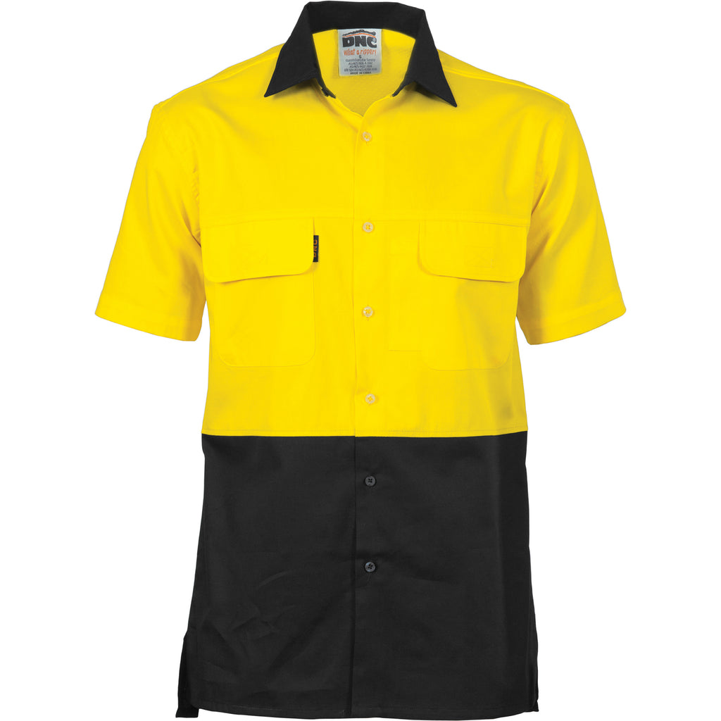 HiVis 3 Way Cool-Breeze Cotton Shirt - short sleeve