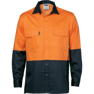 HiVis 3 Way Cool-Breeze Cotton Shirt - Long sleeve