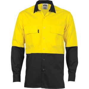 3938 - Hi Vis 3 Way Cool-Breeze Cotton Shirt - Long sleeve