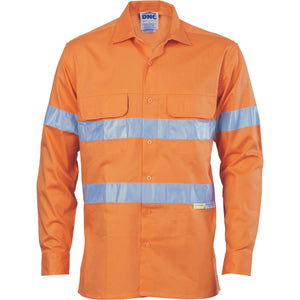 3947 - Hi Vis 3 Way Cool-Breeze Cotton Shirt with 3M R/Tape - Long sleeve
