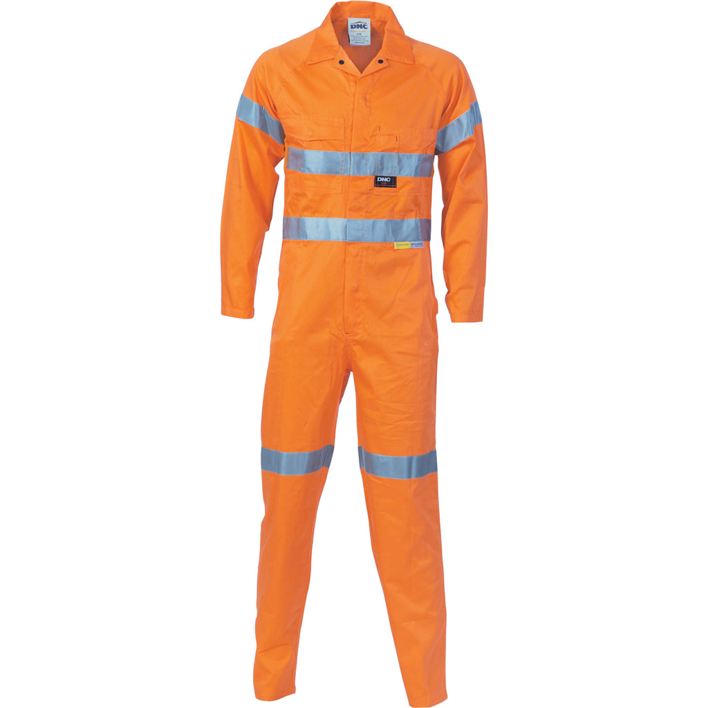 3956 - Hi Vis Cool-Breeze Orange L.Weight Cotton Coverall with 3M R/Tape