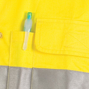 HiVis Cool-Breeze Cotton Shirt with 3M 8906 R/Tape - Long sleeve