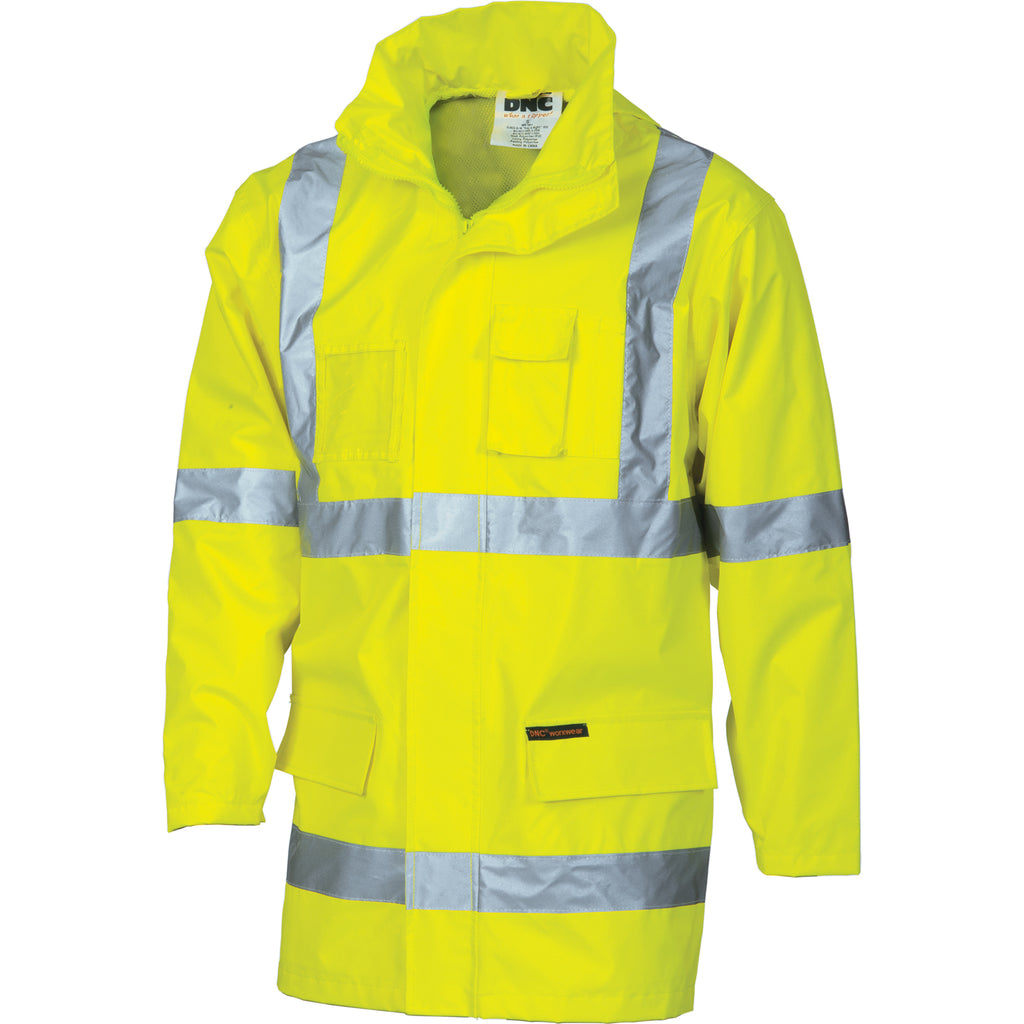 "3995 - Hi Vis Cross Back D/N ""2 in 1"" Rain Jacket"