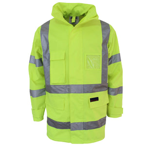 "HiVis ""X"" back Rain jacket Biomotion tape"