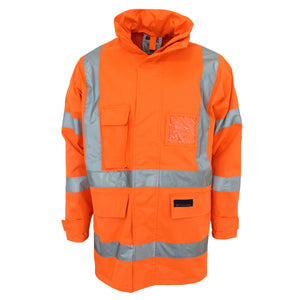 "3996 - Hi Vis ""X"" back Rain jacket Biomotion tape"