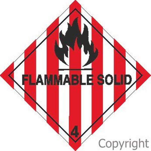HAZCHEM Flammable Solid Sign