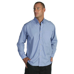 Polyester Cotton Chambray Business Shirt - Long Sleeve