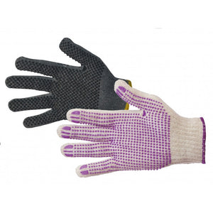 Poly D - Poly Cotton Glove with PVC Dots
