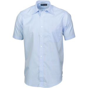 4155 - Mens Tonal Stripe Shirts - Short Sleeve