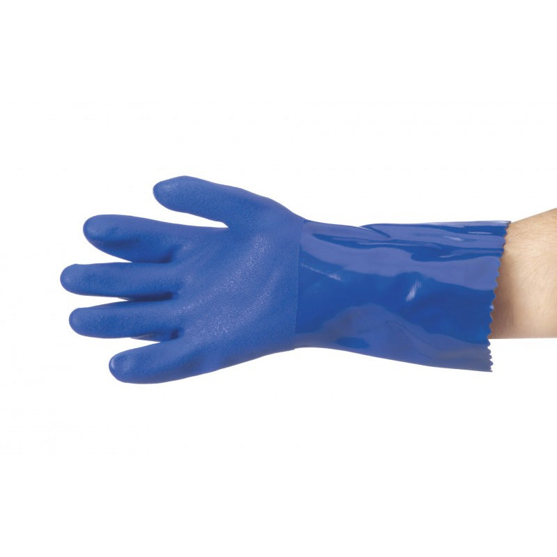 Trojan - Blue PVC Heavy Duty Glove
