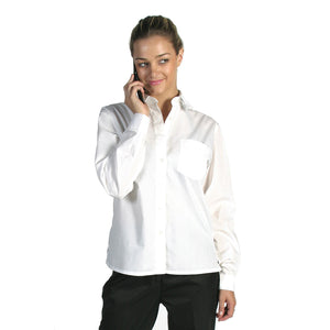 4202 - Ladies Polyester Cotton Poplin Shirt - Long Sleeve