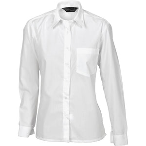 Ladies Polyester Cotton Poplin Shirt - Long Sleeve