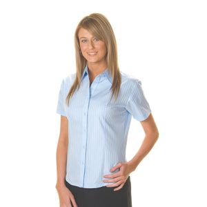 4235 - Ladies Tonal Stripe Shirts - Short Sleeve