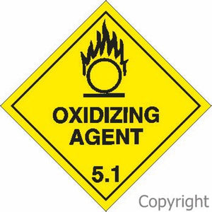 HAZCHEM Oxidizing Agent Sign
