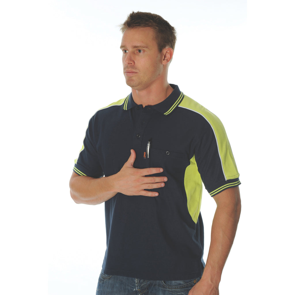 Polyester Cotton Panel Polo Shirt - Short Sleeve