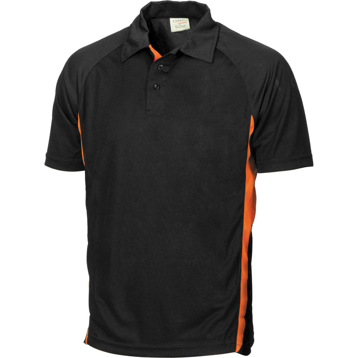 5221 - Adult Cool-Breathe Black Contrast Polo