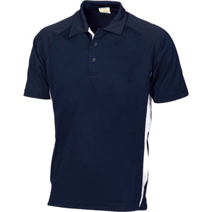 5221 - Adult Cool-Breathe Navy Contrast Polo