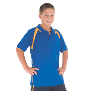 5248 - Kids Poly/Cotton Contrast Raglan Panel Polo