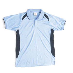 5263 - Kids Air Flow Contrast Raglan Mesh Polo