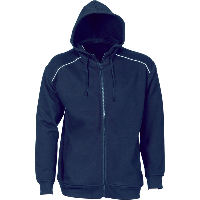Mens Contast Piping Fleecy Hoodie