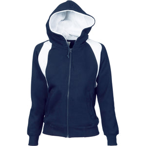 5425 - Ladies Contrast Panel Fleecy Top with Hood