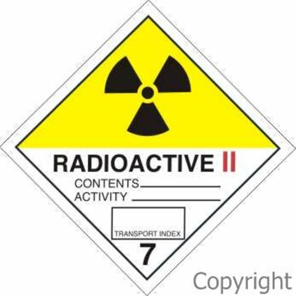HAZCHEM Radioactive Sign