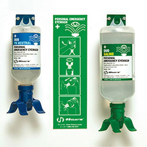 Haws Wall mounted, Dual Bottles-500ml pH Neutral/1000ml Sterile Saline