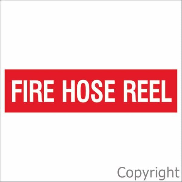 Fire Hose Reel Sign Red