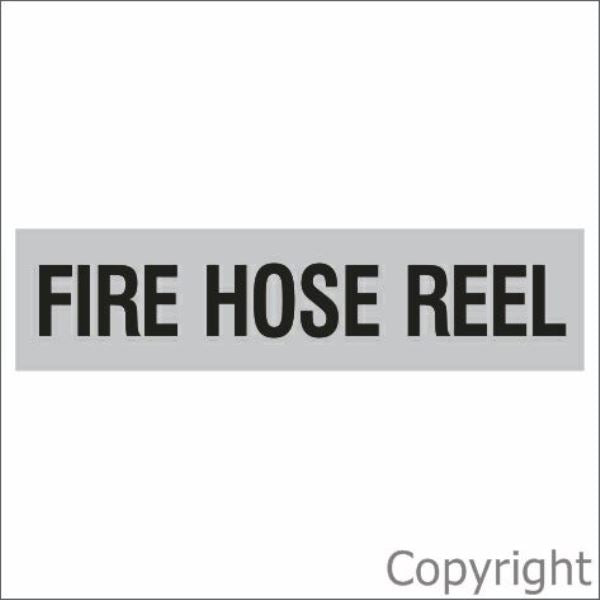 Fire Hose Reel Sign Silver