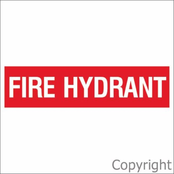 Fire Hydrant Sign Red