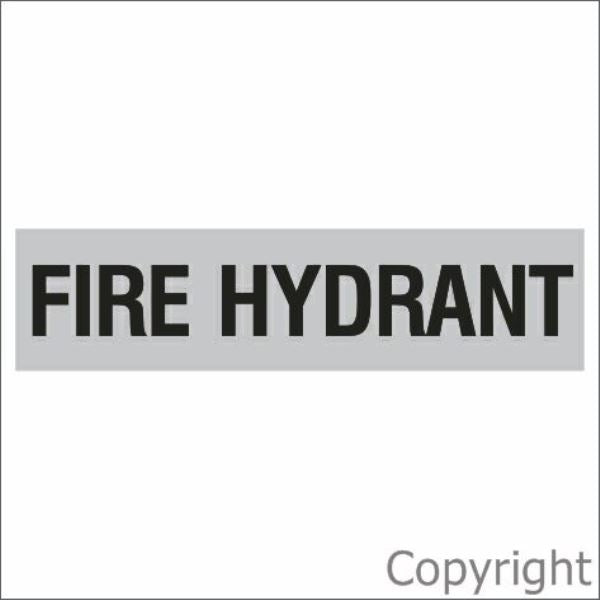 Fire Hydrant Sign Silver