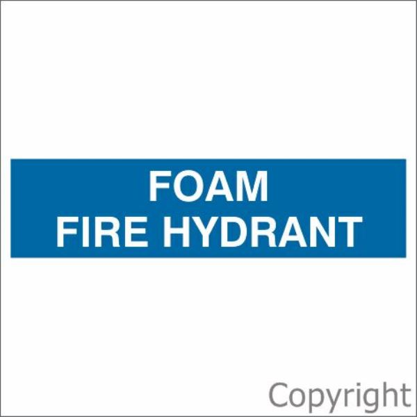 Foam Fire Hydrant Sign Blue