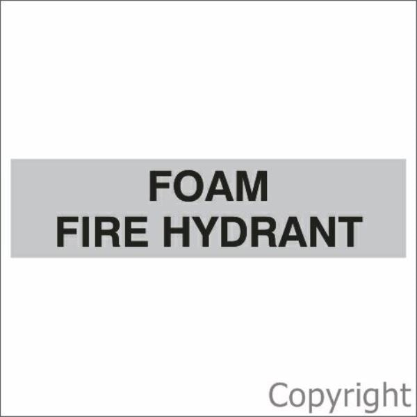Foam Fire Hydrant Sign Silver