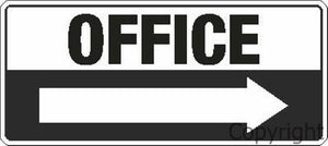 Office + Right Arrow Sign
