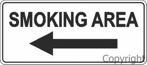 Smoking Sign with Left Arrow